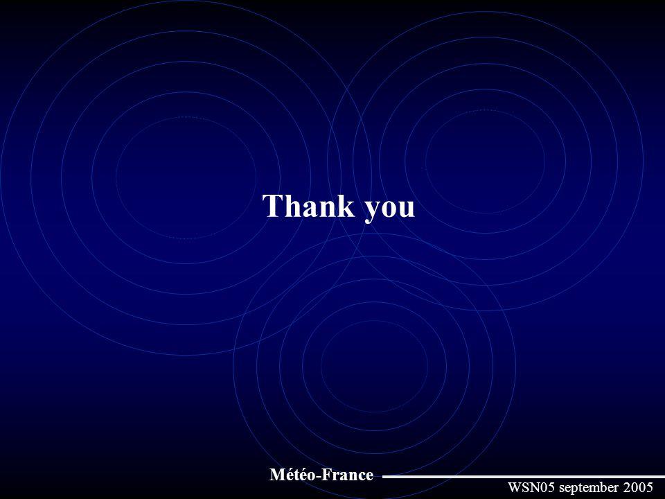 Thank you Météo-France WSN05 september 2005