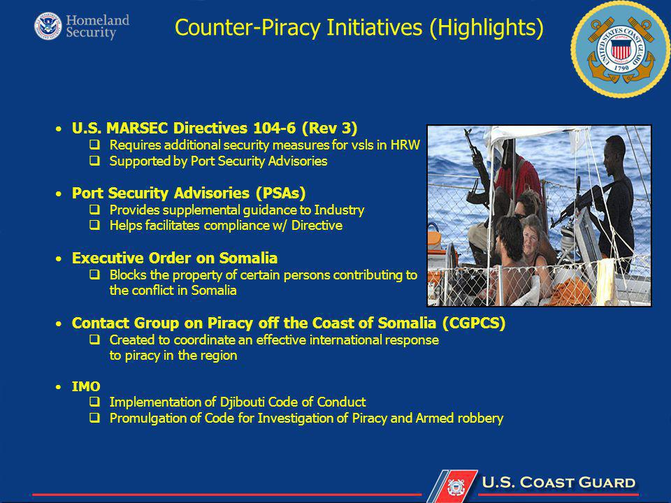 Counter-Piracy Initiatives (Highlights) U.S.