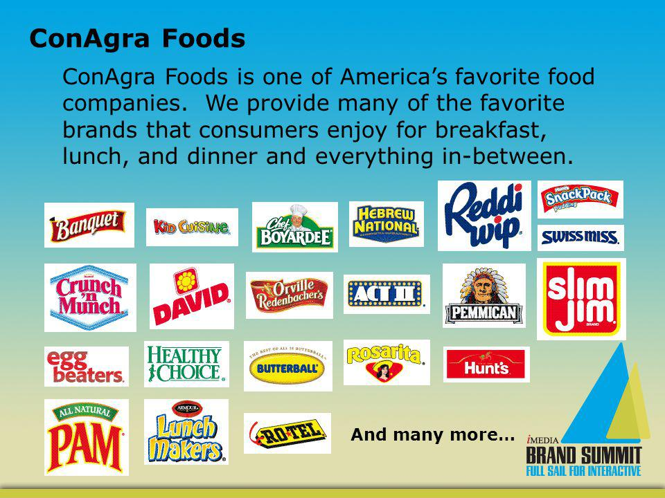 ConAgra Foods is one of Americas favorite food companies.