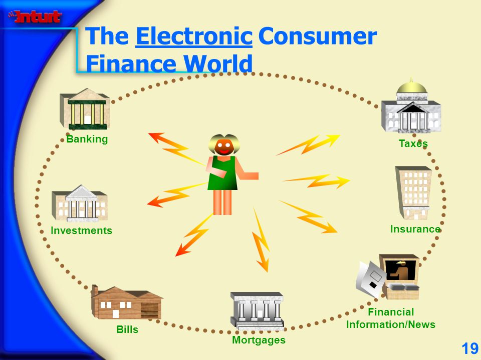 19 Banking Mortgages Investments Bills Financial Information/News The Electronic Consumer Finance World Taxes Insurance