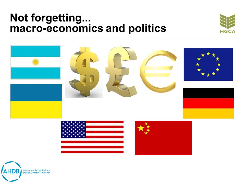 Not forgetting... macro-economics and politics