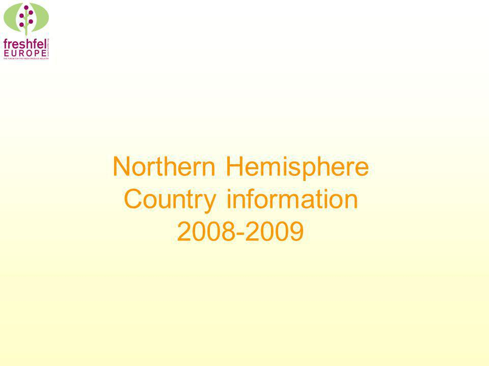 Northern Hemisphere Country information 2008-2009