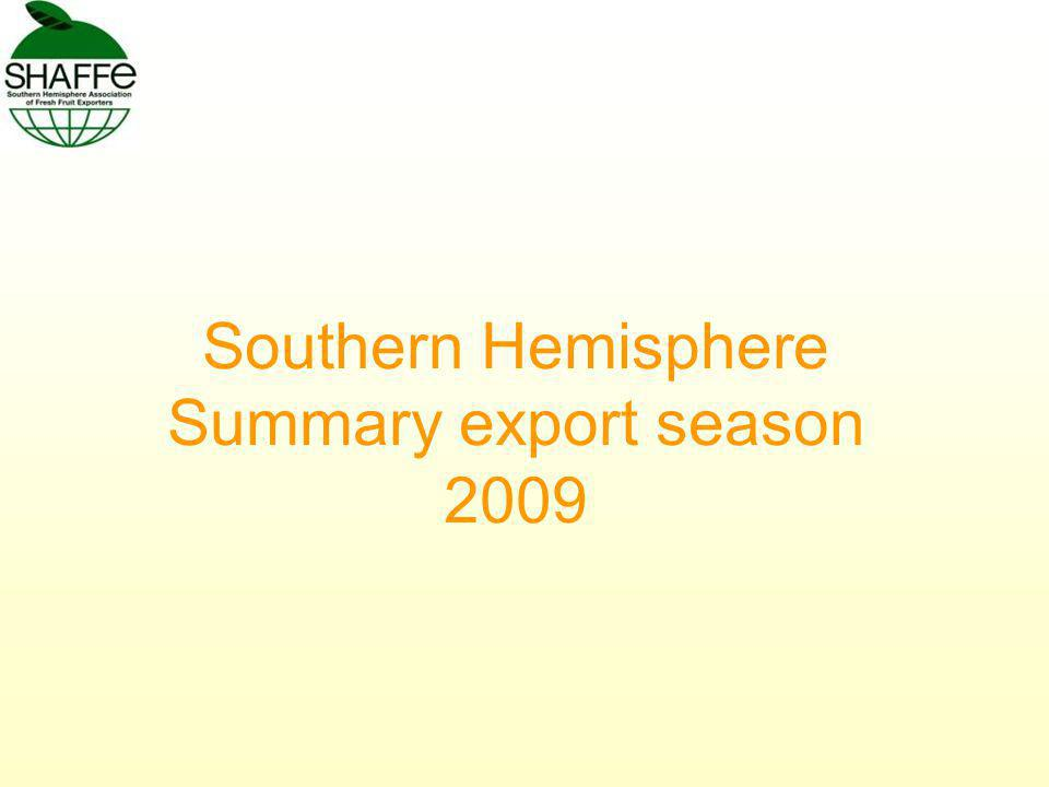 Southern Hemisphere Summary export season 2009