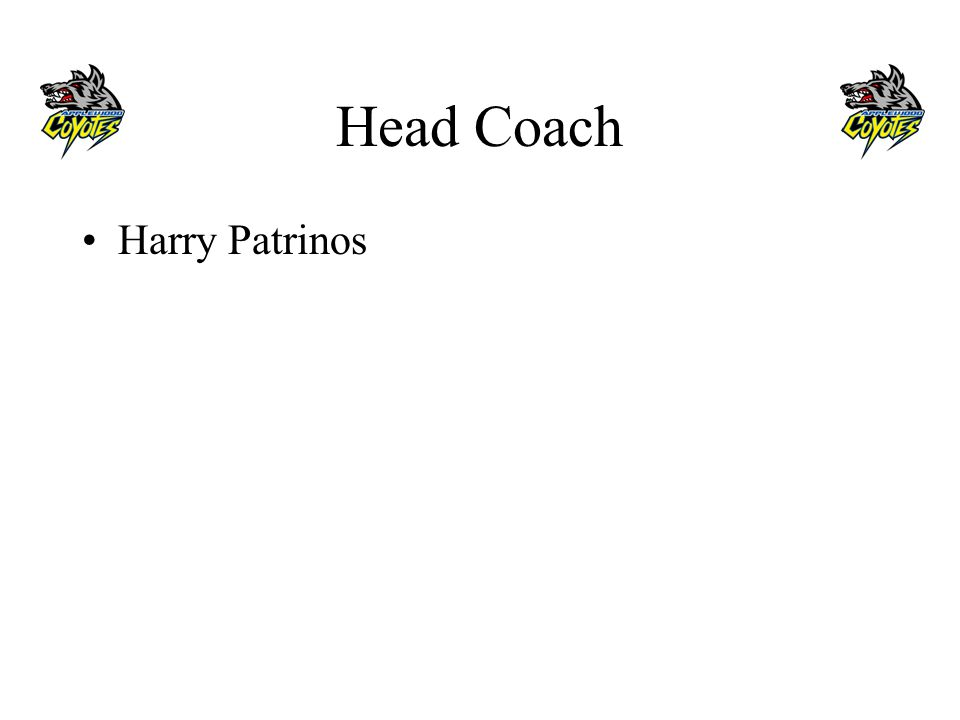 Head Coach Harry Patrinos