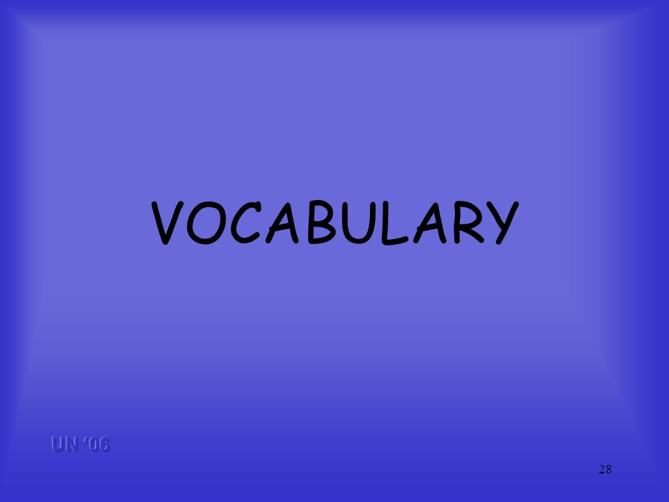 28 VOCABULARY