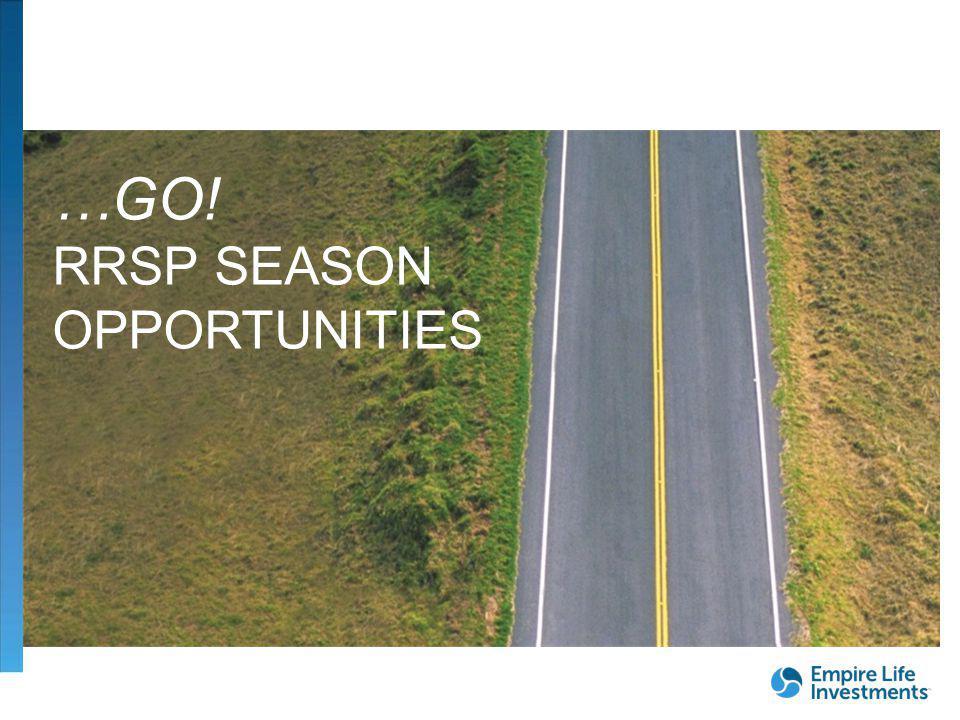 FOR DEALER/ADVISOR USE ONLY| 30 …GO! RRSP SEASON OPPORTUNITIES