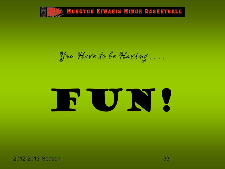 332012-2013 Season You Have to be Having.... FUN!