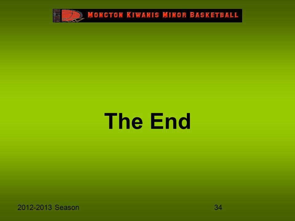 342012-2013 Season The End