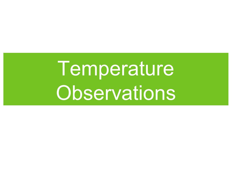 Temperature Observations