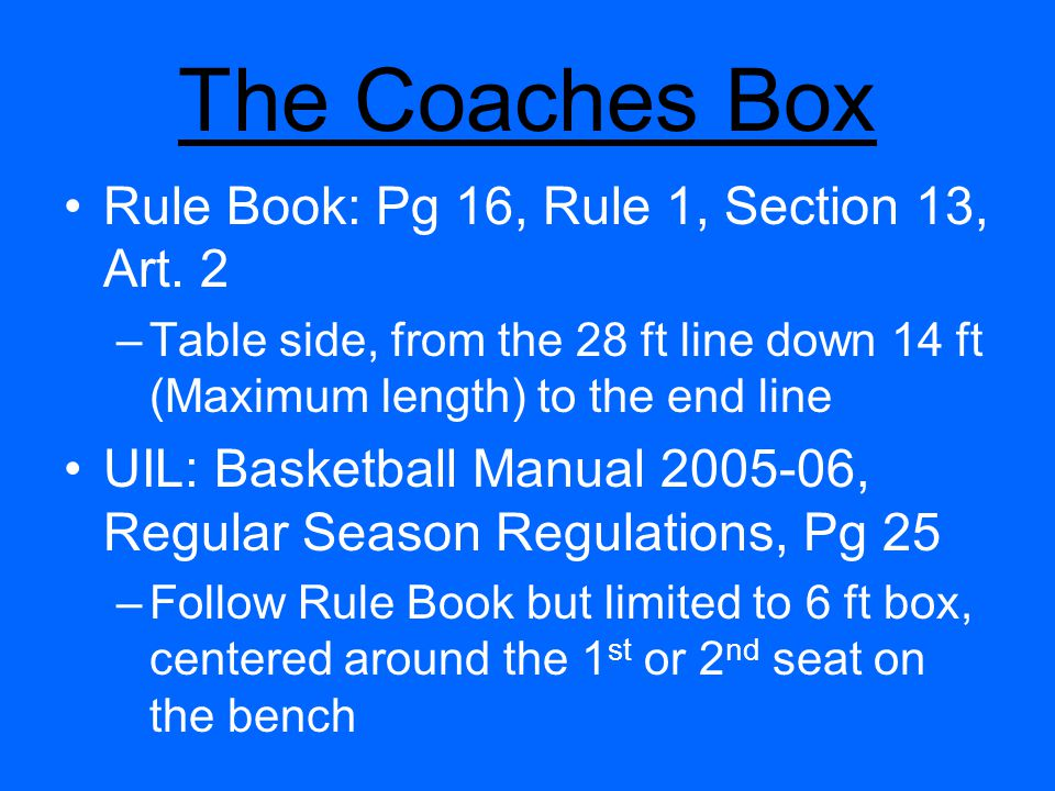 Team Control – Examples 2) Player A1 is driving to the basket on a fast break.