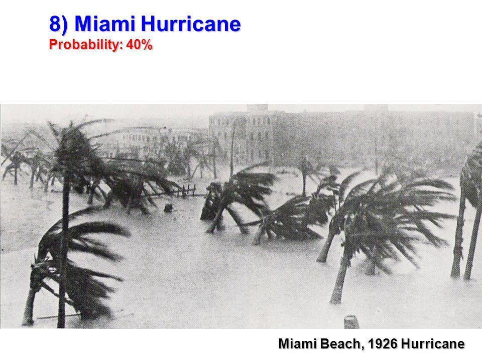 8) Miami Hurricane Probability: 40% Miami Beach, 1926 Hurricane