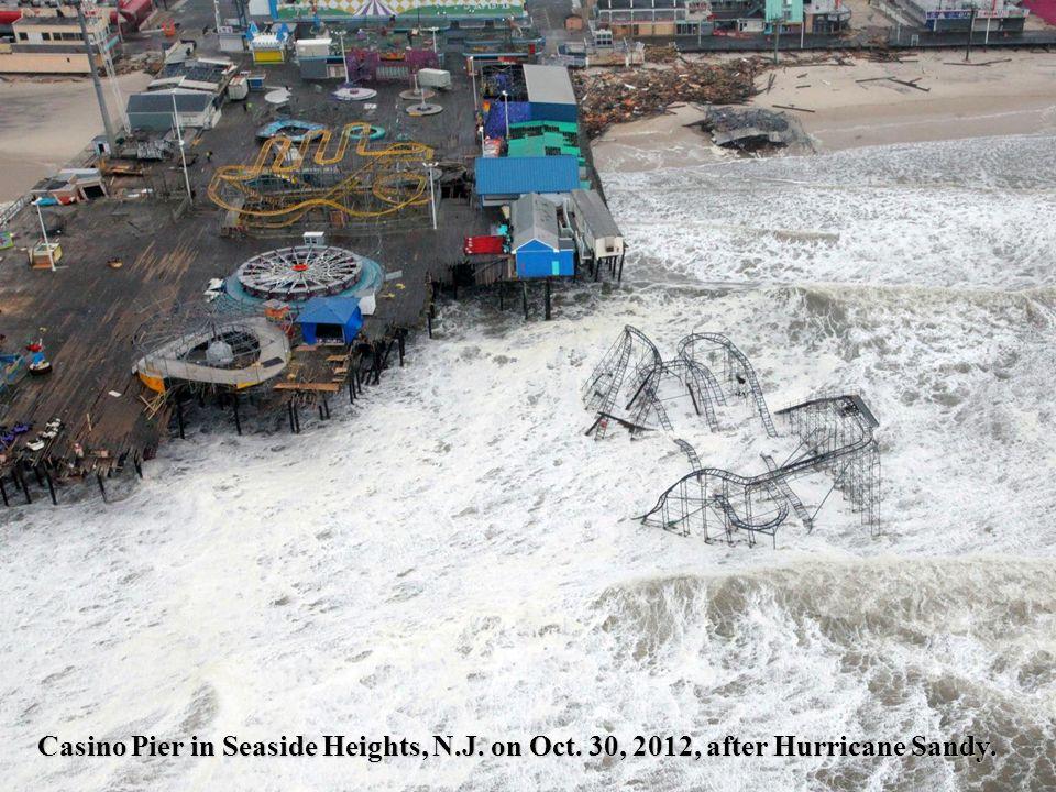 Casino Pier in Seaside Heights, N.J. on Oct. 30, 2012, after Hurricane Sandy.
