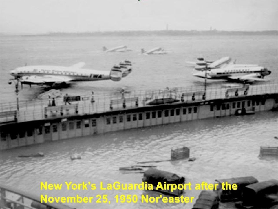 New York's LaGuardia Airport after the November 25, 1950 Nor'easter