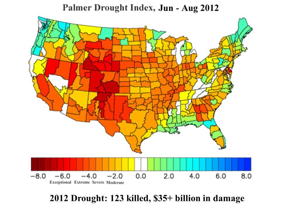 2012 Drought: 123 killed, $35+ billion in damage