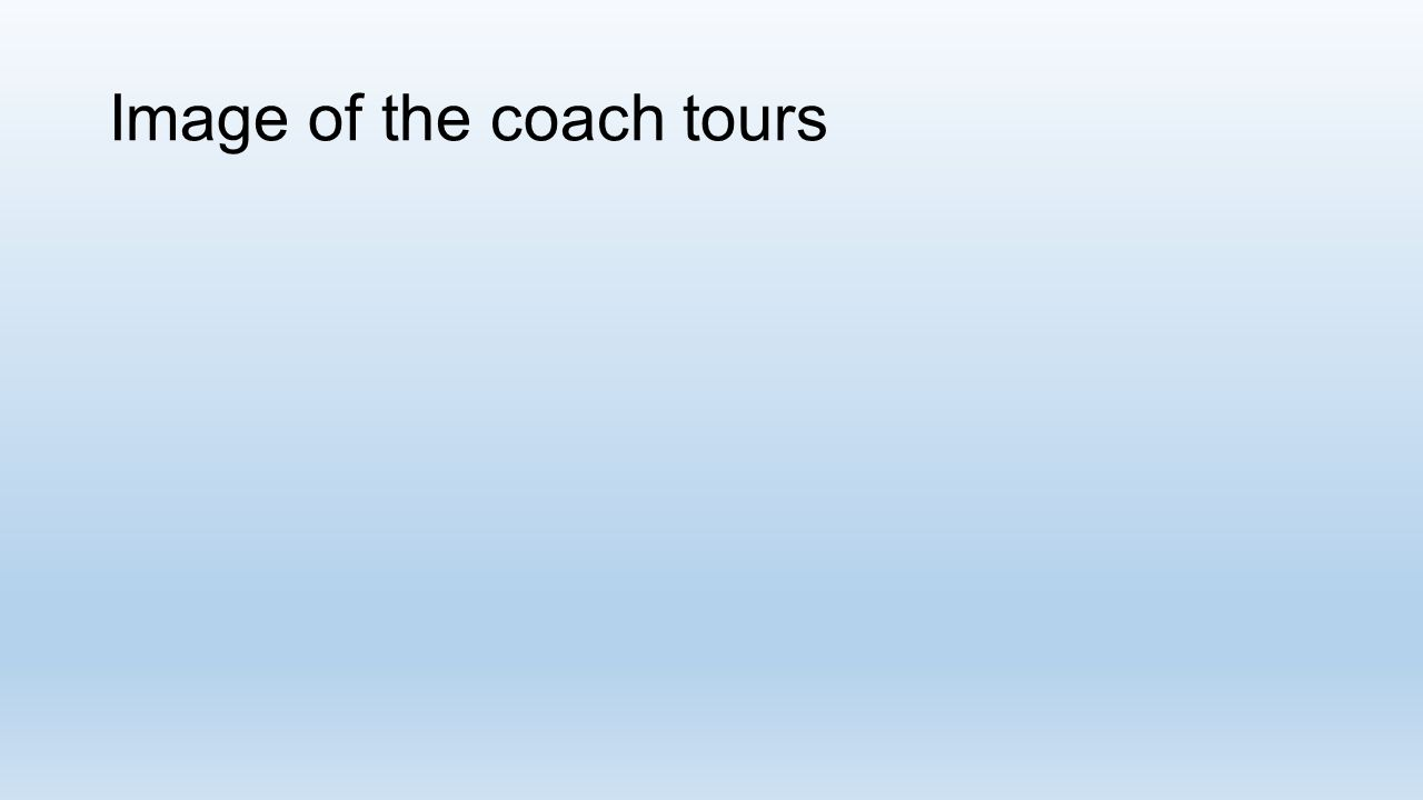 Image of the coach tours