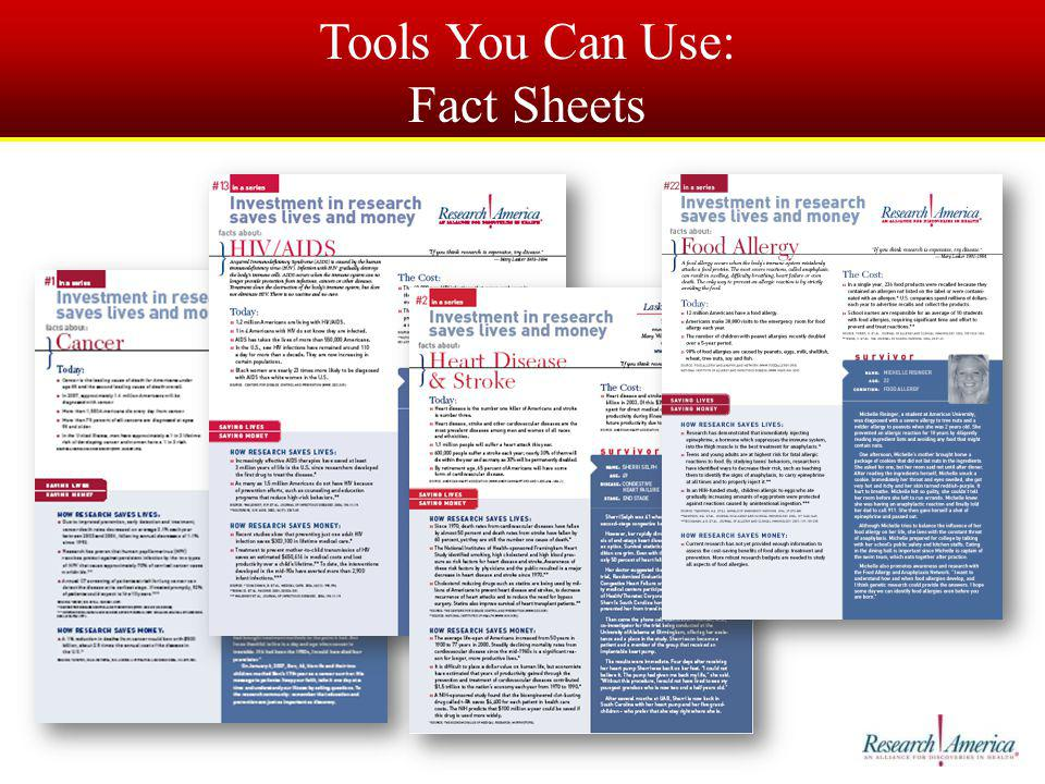 Tools You Can Use: Fact Sheets