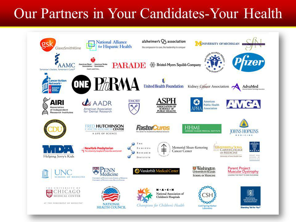Our Partners in Your Candidates-Your Health