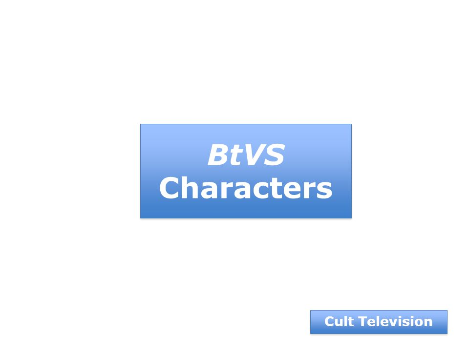 BtVS Characters