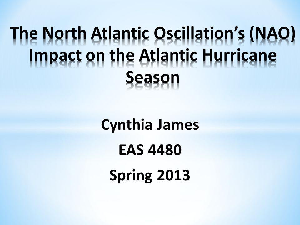 North Atlantic Oscillation (NAO) Data Methods Univariate Statistics Bivariate Statistics Time Series Analysis Conclusions Future Work