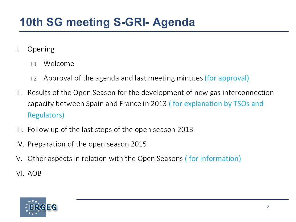 2 10th SG meeting S-GRI- Agenda