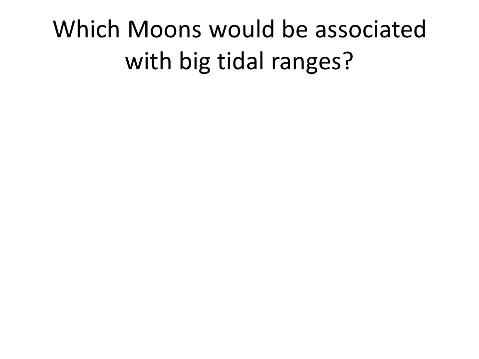 Which Moons would be associated with big tidal ranges?