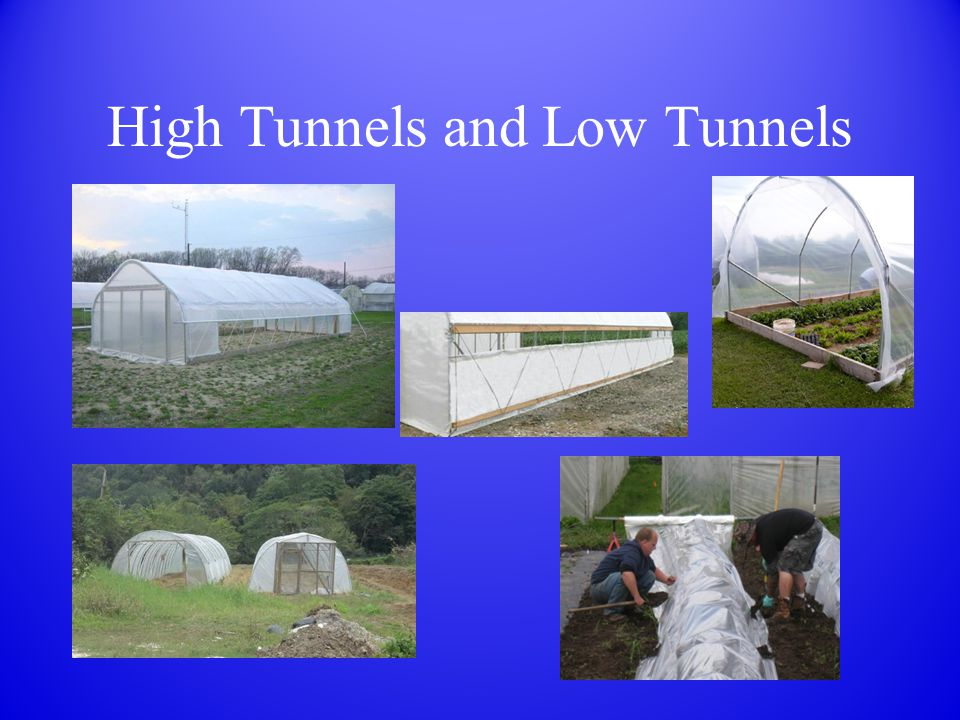 High Tunnels and Low Tunnels