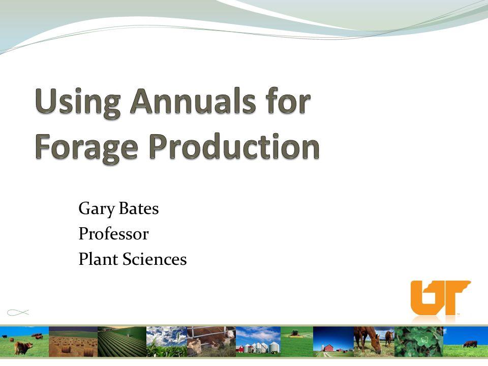 Gary Bates Professor Plant Sciences