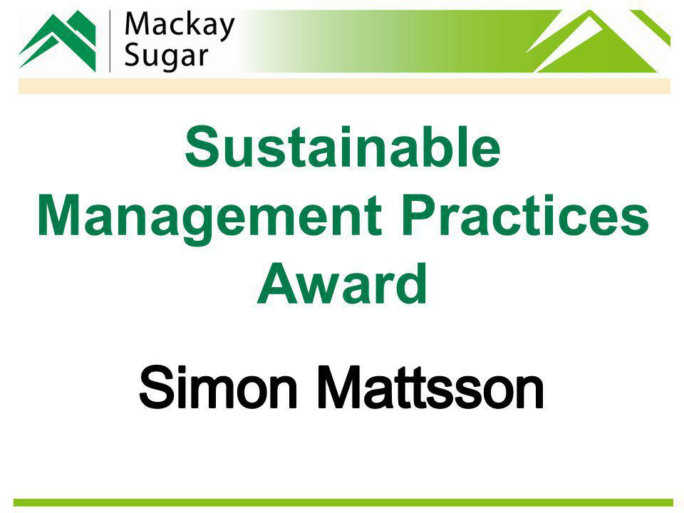 Sustainable Management Practices Award