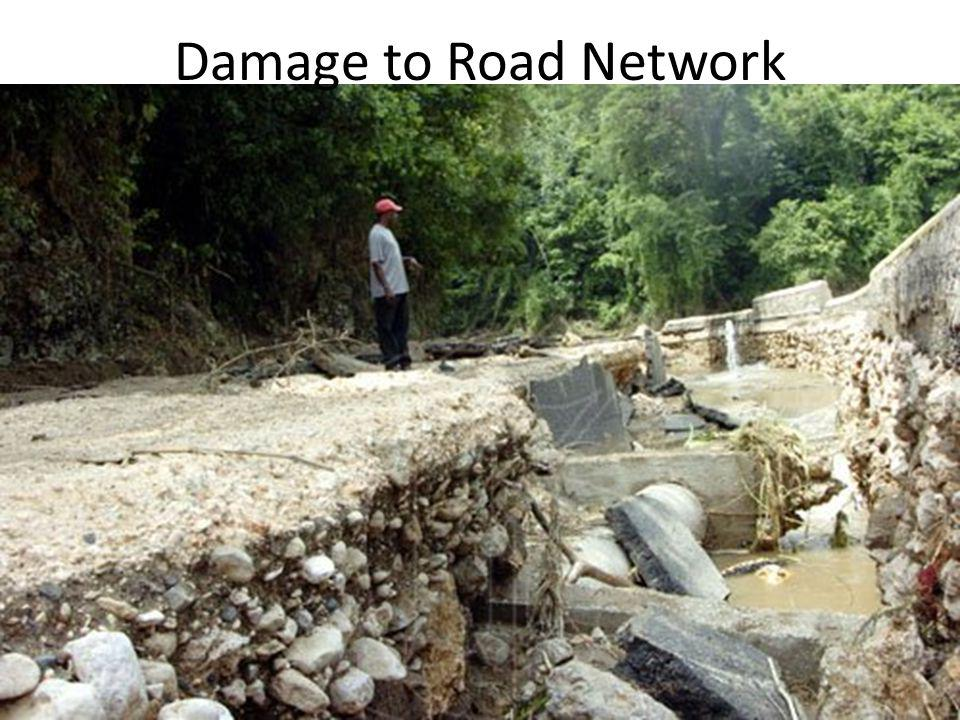 Damage to Road Network