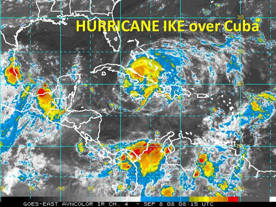 HURRICANE IKE over Cuba