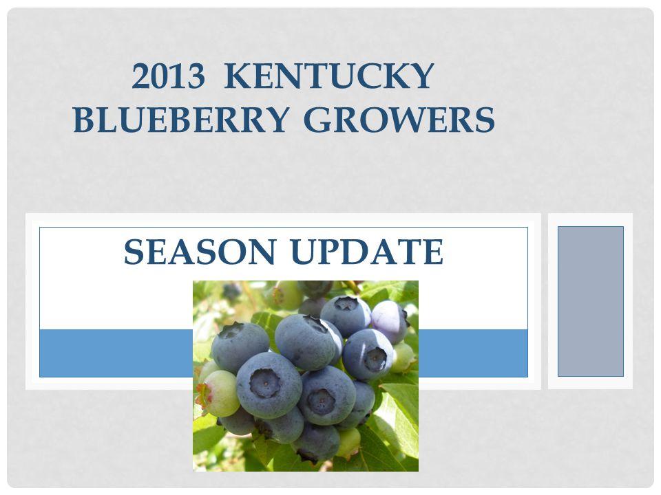 2013 KENTUCKY BLUEBERRY GROWERS SEASON UPDATE
