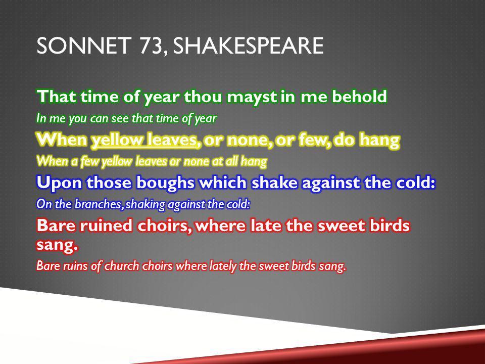 SONNET 73, SHAKESPEARE