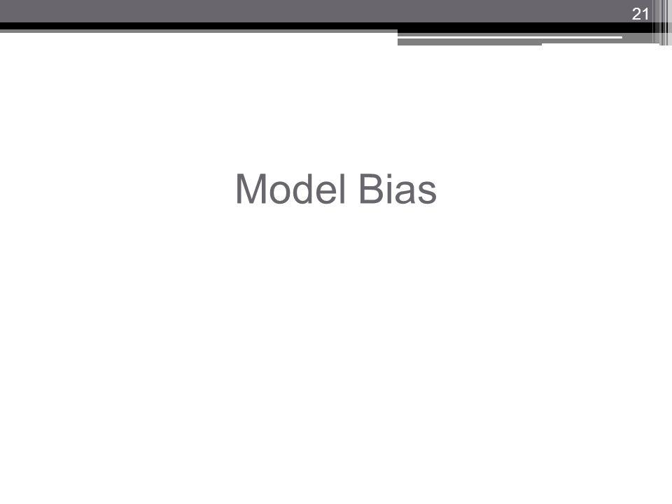 Model Bias 21