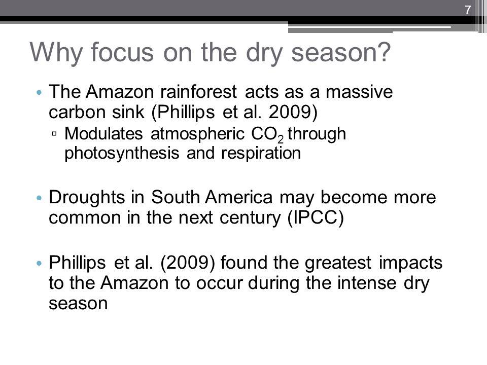 Why focus on the dry season.