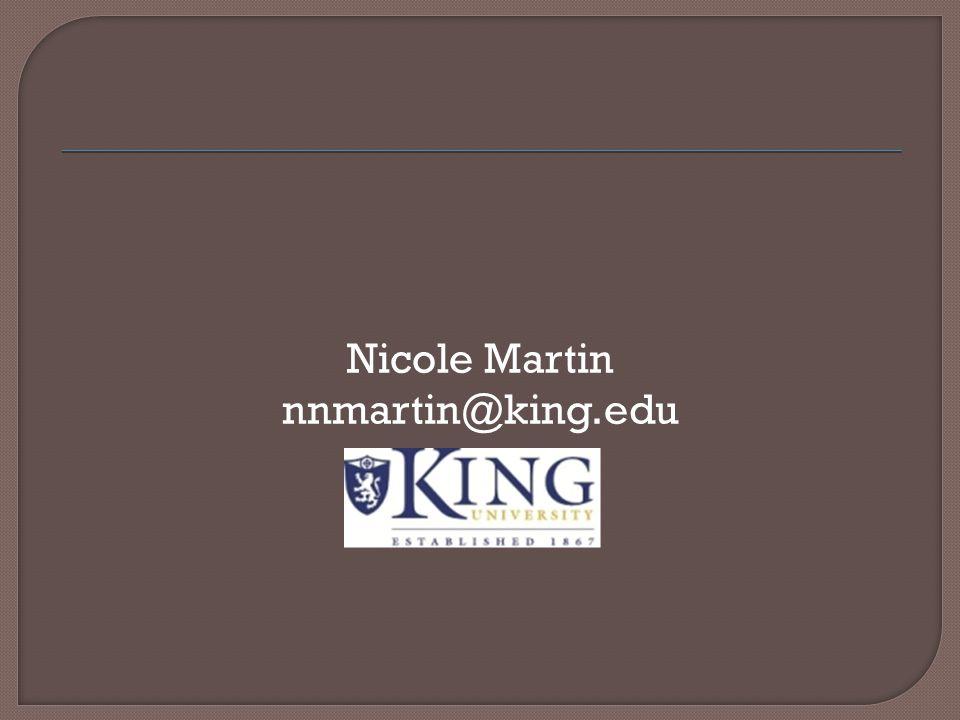 Nicole Martin nnmartin@king.edu
