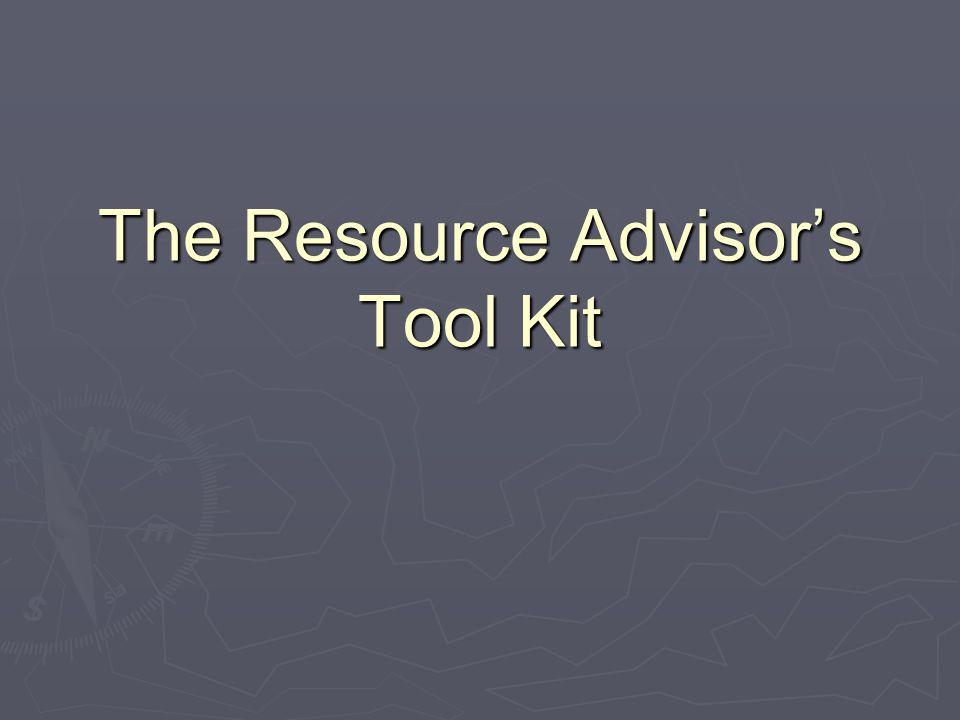 The Resource Advisors Tool Kit