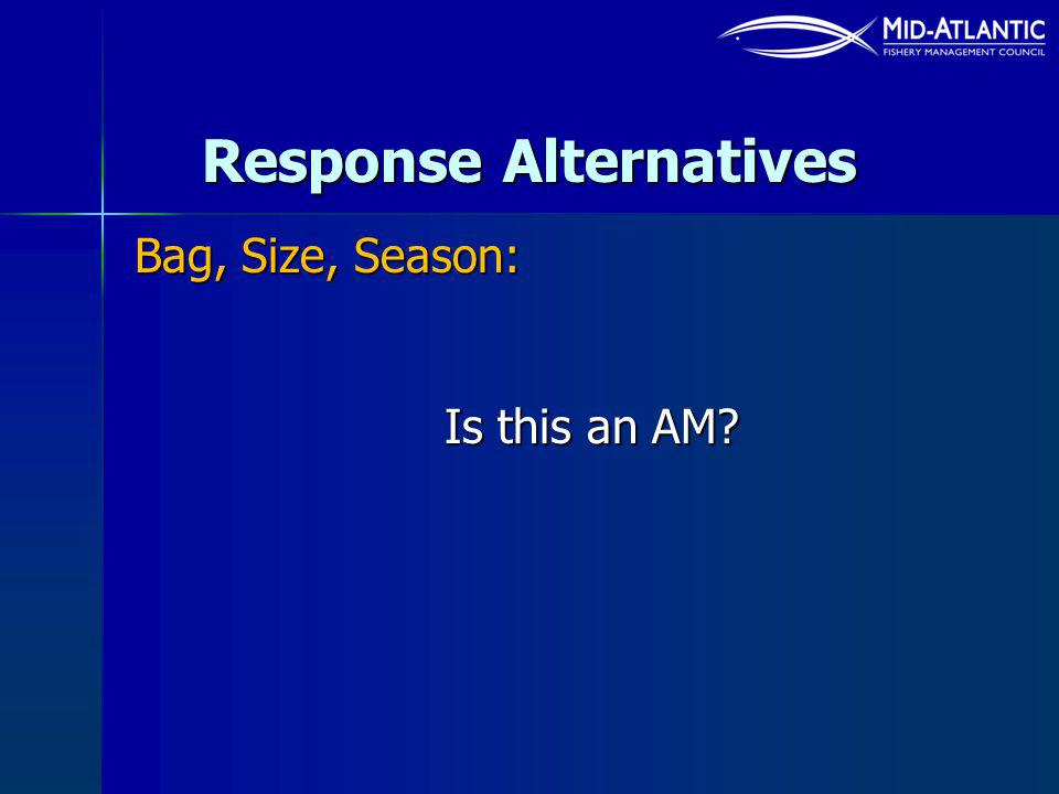 Response Alternatives Bag, Size, Season: Is this an AM