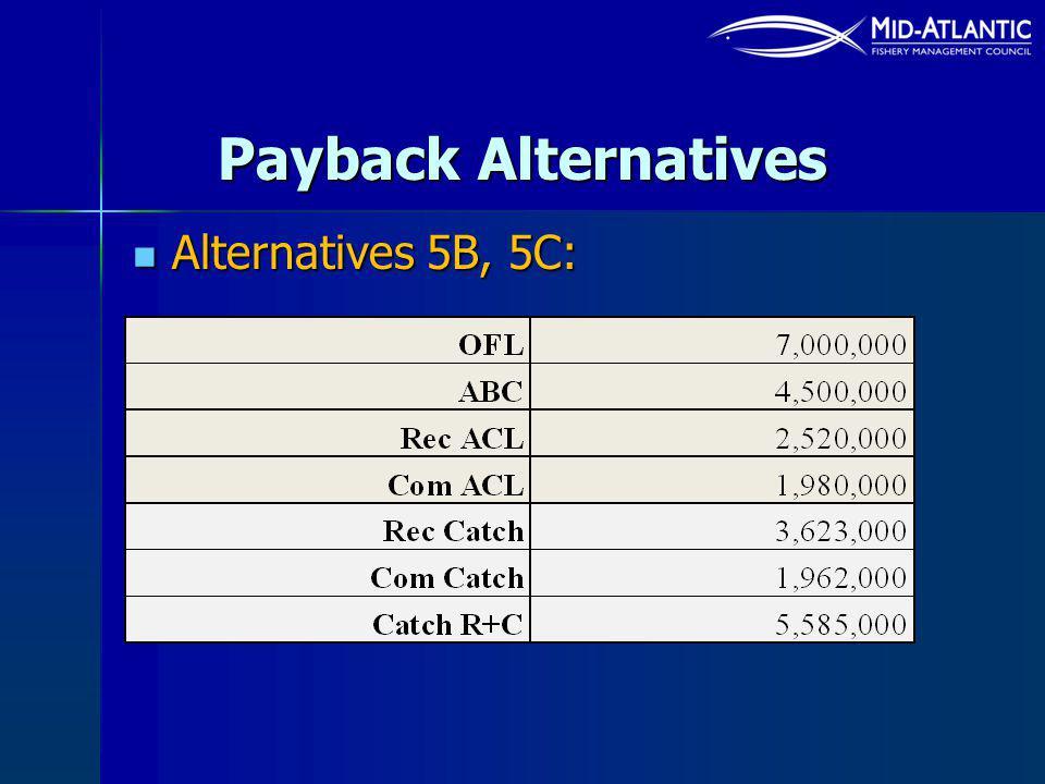 Alternatives 5B, 5C: Alternatives 5B, 5C: