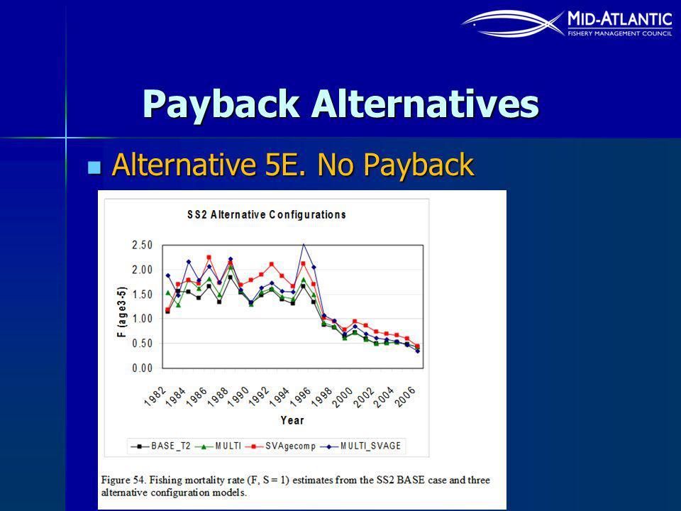 Payback Alternatives Alternative 5E. No Payback Alternative 5E. No Payback
