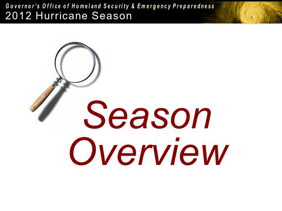 2012 Hurricane Season Season Overview