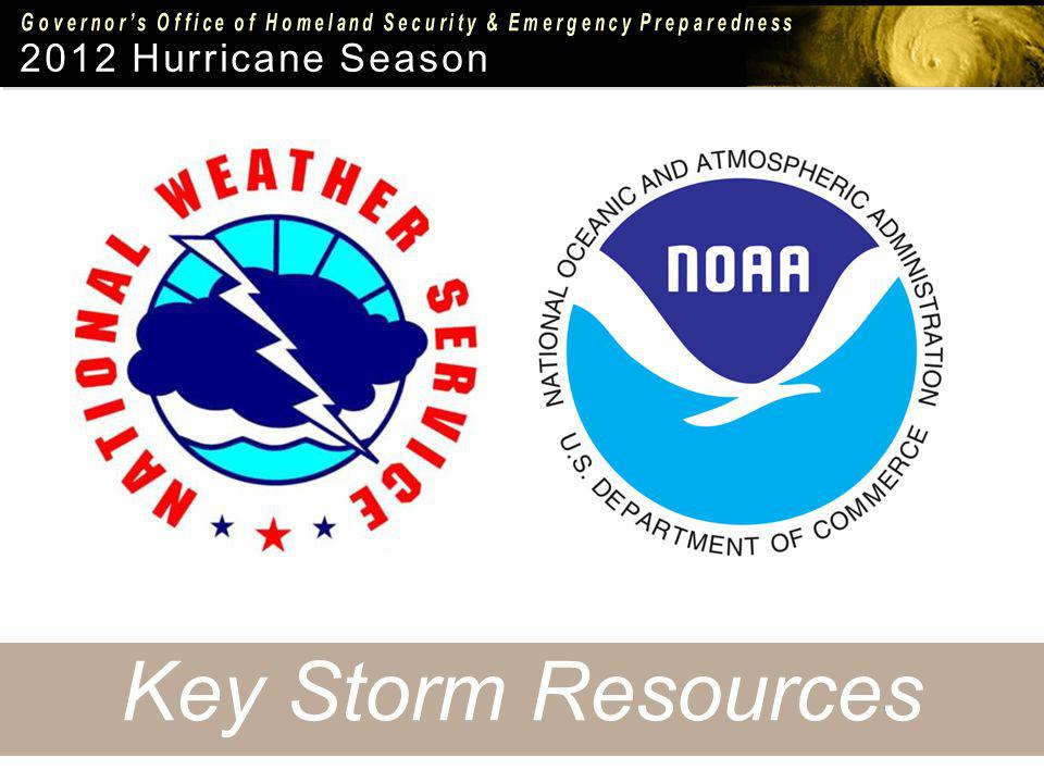 2012 Hurricane Season Key Storm Resources