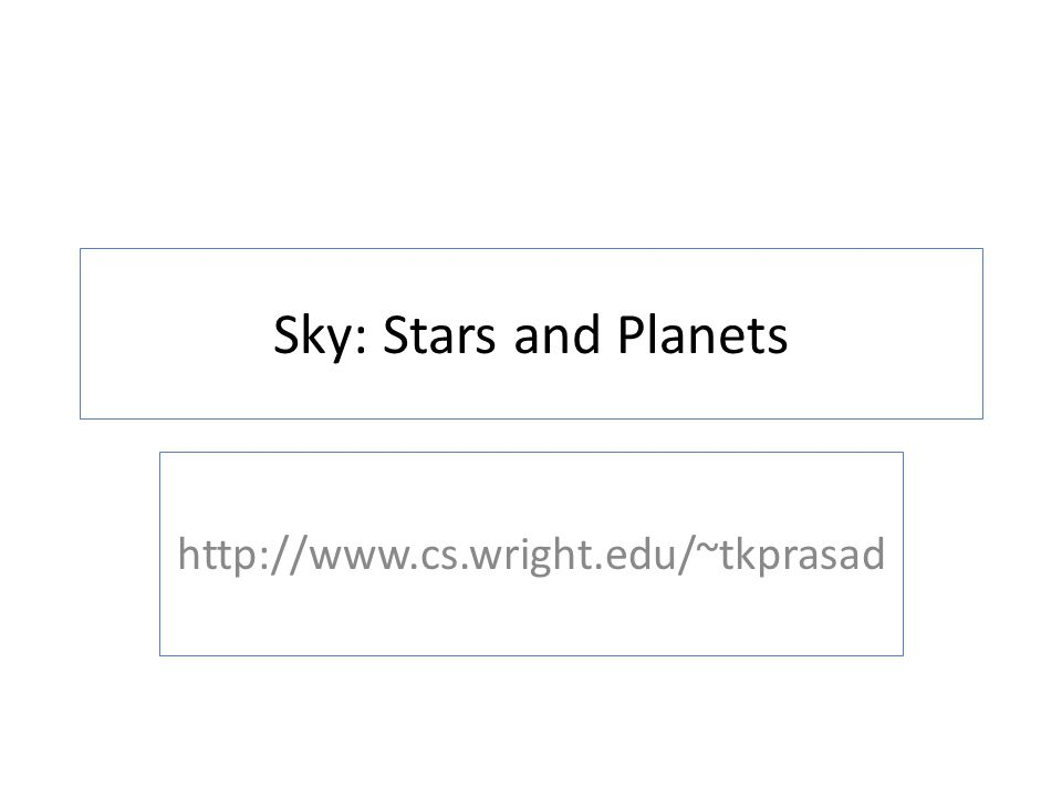 Sky: Stars and Planets