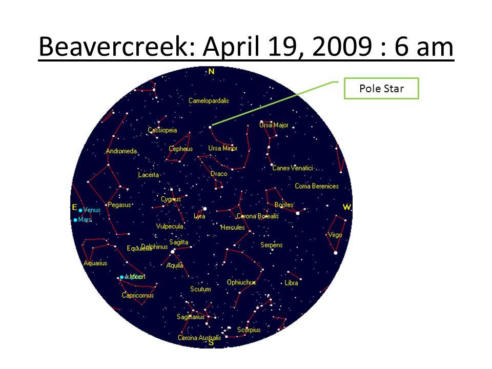 Beavercreek: April 19, 2009 : 6 am Pole Star