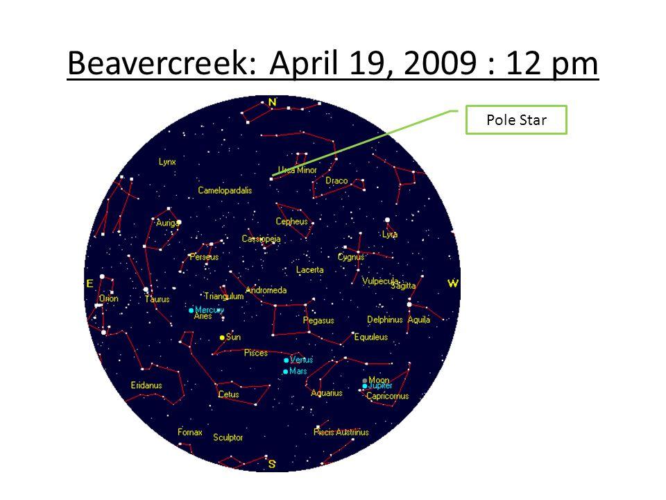 Beavercreek: April 19, 2009 : 12 pm Pole Star