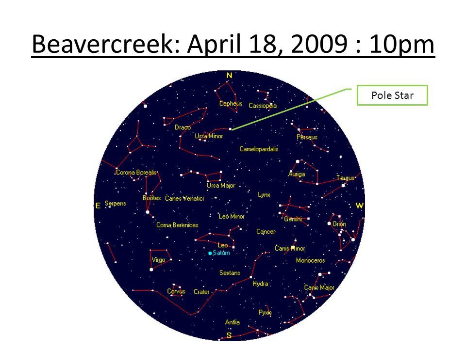 Beavercreek: April 18, 2009 : 10pm Pole Star