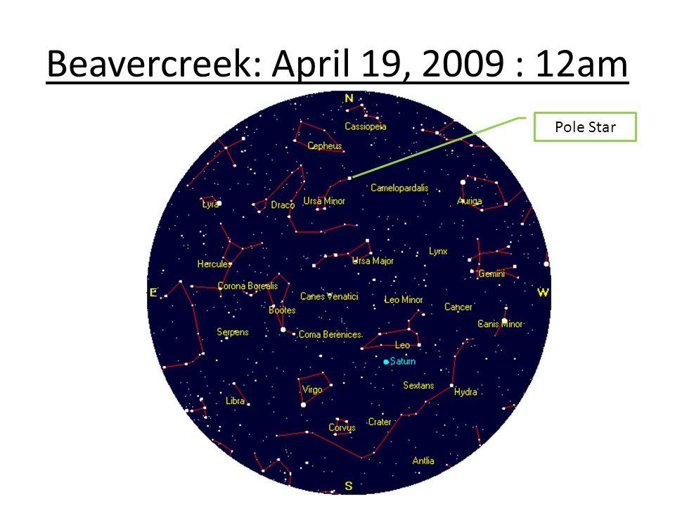 Beavercreek: April 19, 2009 : 12am Pole Star
