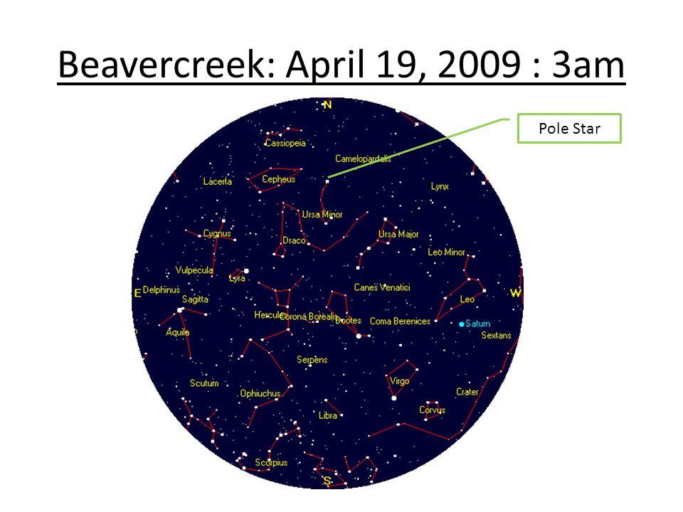 Beavercreek: April 19, 2009 : 3am Pole Star