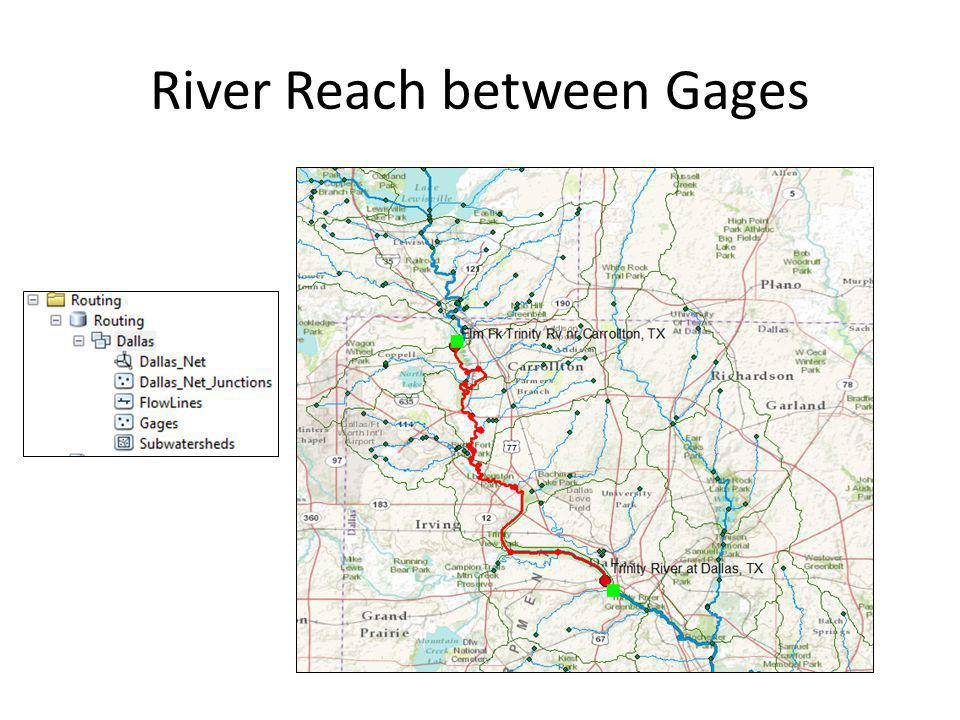 River Reach between Gages
