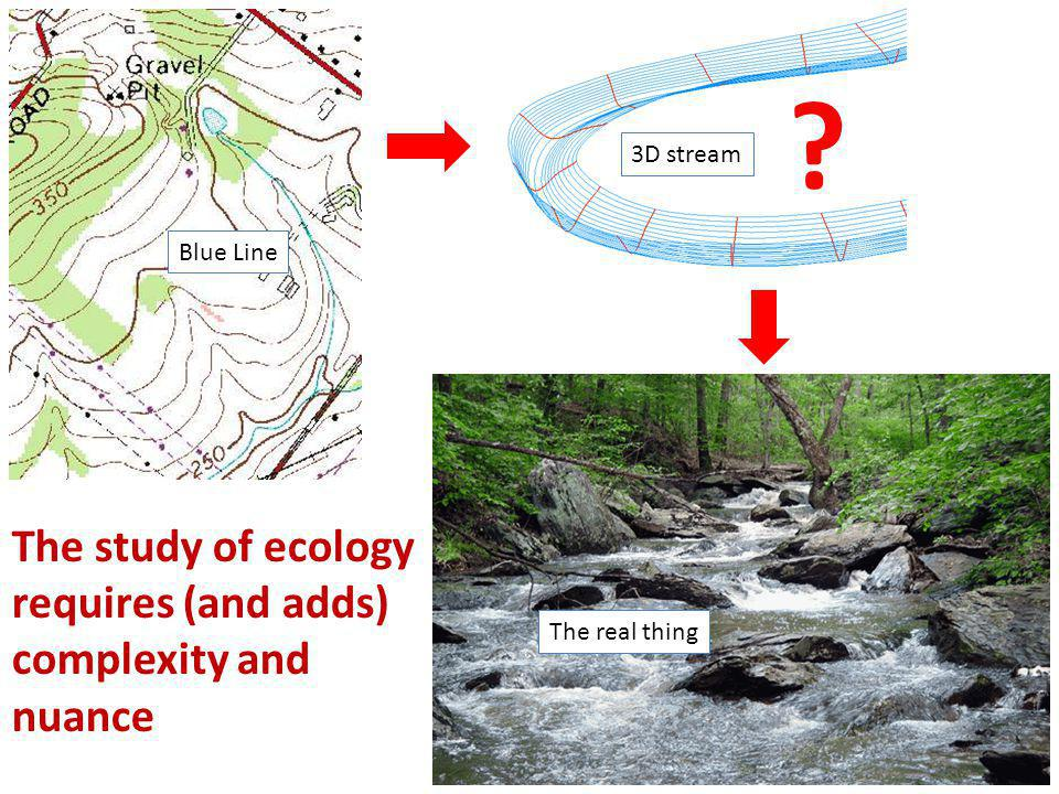 ? The study of ecology requires (and adds) complexity and nuance Blue Line 3D stream The real thing