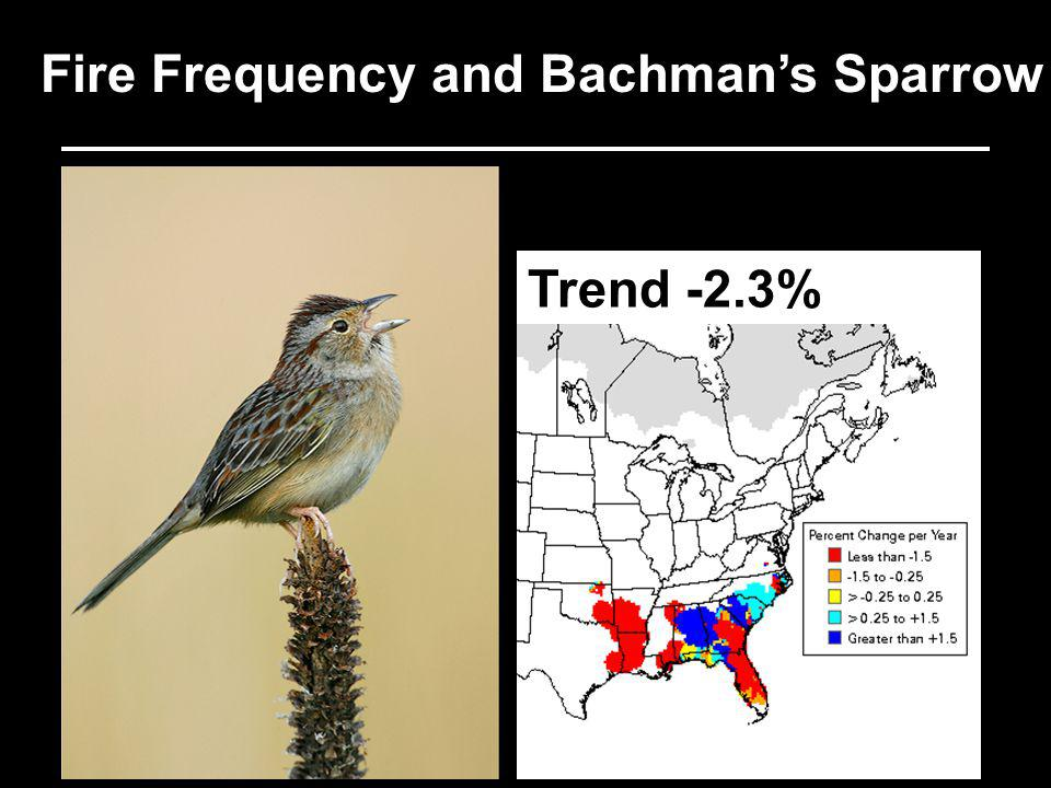 Fire Frequency and Bachmans Sparrow Trend -2.3%